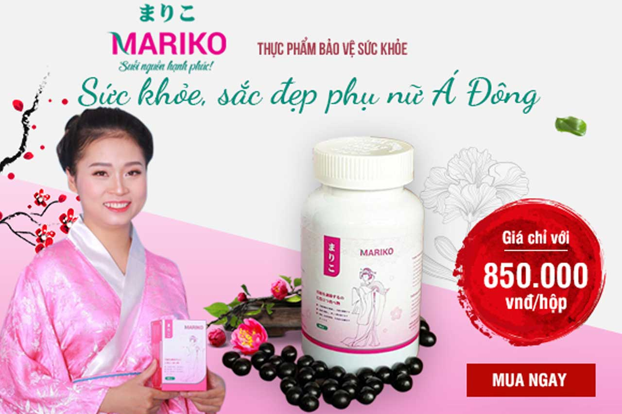 Viên uống Mariko điều hòa kinh nguyệt, giảm đau bụng kinh