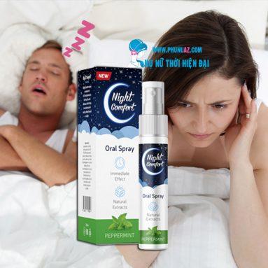 Xịt Night Comfort chữa ngáy ngủ dứt điểm hiệu quả